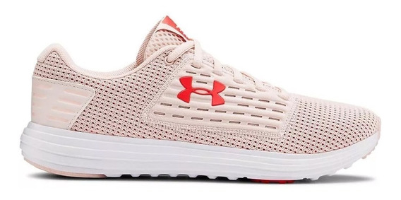 Zapatillas Under Armour Surge Mujer Running Rosa/blanco