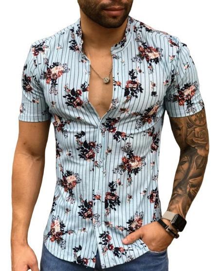 Camisa Manga Curta Malha Com Elastano Gola Padre