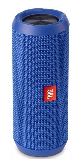 Caixa Som Portátil Jbl Harman Flip4 Azul Original