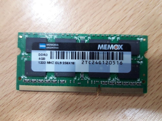 Memoria Ram 4 Gb Ddr3 1333 Mhz (notebook)