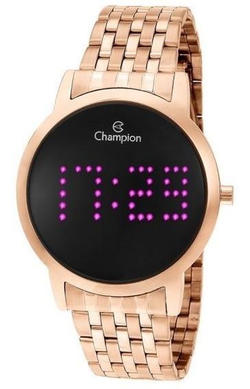 Relógio Champion Unissex Digital Ch40008h Rose Redondo