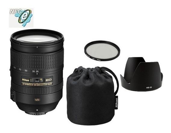 Lente Nikon 28-300mm F/3.5-5.6g Ed Af-s Vr + Uv 77mm Nota Fiscal