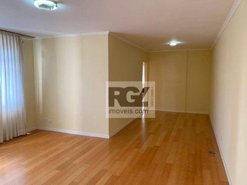 Apartamento Com 3 Dormitórios Para Alugar, 150 M² Por R$ 3.900,00/mês - Ponta Da Praia - Santos/sp - Ap6287