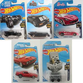 Pack 5 Hot Wheels/justice League Minecraft Barbie 007 Batman