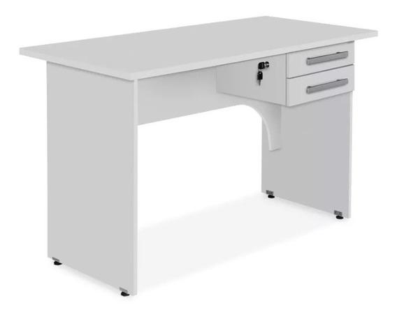 Mesa Para Escritório Com 2 Gavetas 1,00m Branco