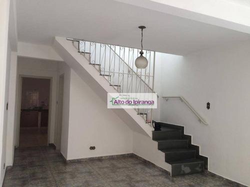 Sobrado Com 3 Dormitórios Para Alugar, 190 M² Por R$ 3.200,00/mês - Chácara Inglesa - São Paulo/sp - So1071