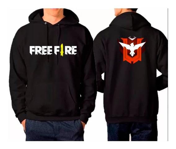 Blusa De Frio Moletom Free Fire Mestre + Camiseta Brinde