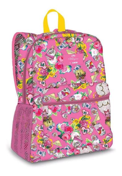 Mochila Espalda Urbana Arte 17 Pulgadas Milagros Pink