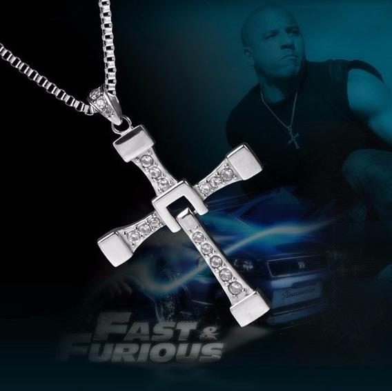 Colar Cordão Cruz Em Aço Dominic Toretto Velozes E Furiosos