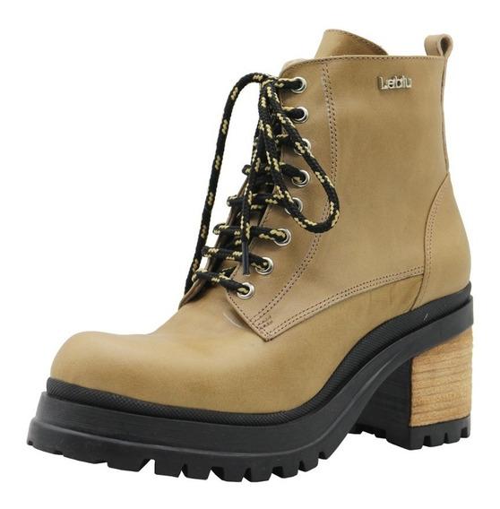 Borcegos Botas Botinetas Zapatos Mujer Cuero Suela Leblu 815