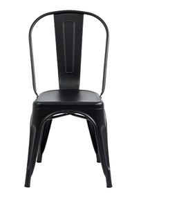 Silla Tolix Negra Mate Texturizada Premium 18 Cuotas S/int