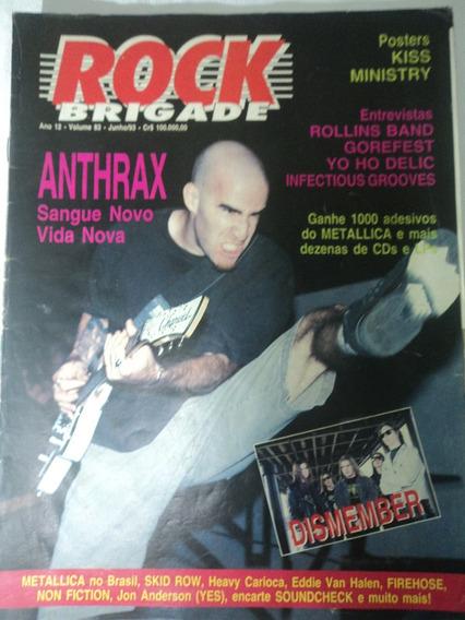 Revista-kit 2-rock Brigade:vol.83+vol.120:anthrax+poster