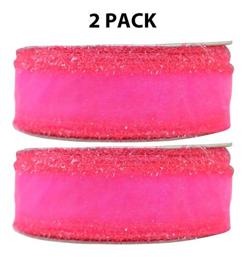 Imagen 1 de 4 de Listón Organza Chanel, 1 Pulgada, 2 Piezas, Varios Colores
