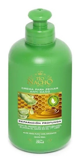 Tío Nacho Crema Para Peinar Anti-daño Aloe Vera X 250 Ml