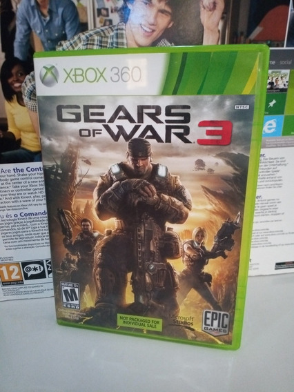 Gears Of War 3 Xbox 360 Midia Fisica Original P/ Entreg
