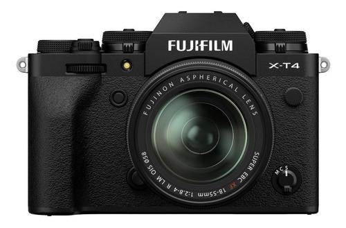 Imagen 1 de 4 de Fujifilm X-T4 18-55mm OIS Kit sin espejo color  negro