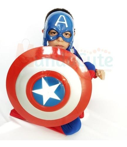 Imagen 1 de 3 de Disfraz Capitán América Niño Premium Alta Calidad Disfraces