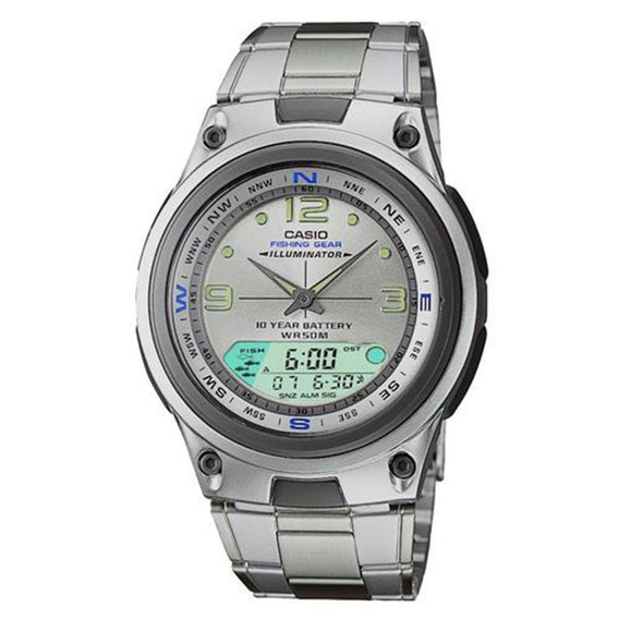 Relógio Masculino Anadigi Prata Casio Aw-82d-7avdf