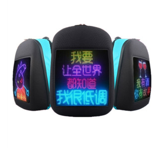 Mochila Pantalla Led Smart Cartel Luminoso Personalizable