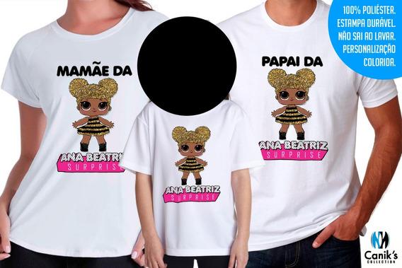 3 Camisas Queen Bee Lol Surprise Personalizadas Com Nome