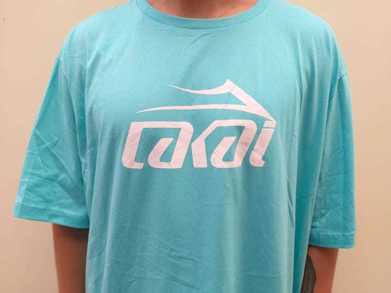 Camiseta Lakai Limited Basic Logo Verde Azul Claro Original