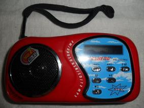 Rádio Recarregável Fm / Usb / Sd / Tf Modelo Hs-2088ru