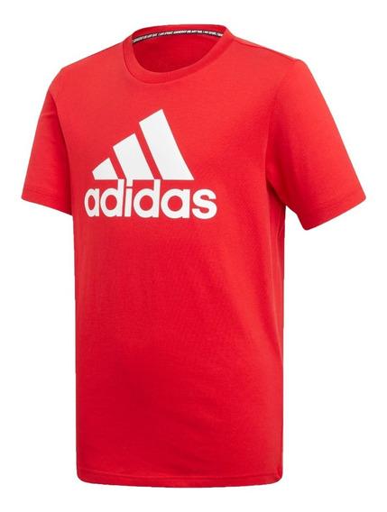 adidas Remera Lifestyle Niños Yb Mh Bos T Rojo
