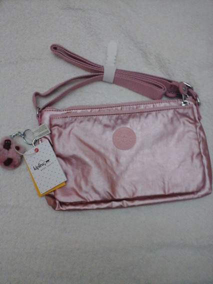 Cartera Kipling Usa Rose Metallic Mikaela