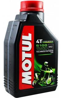 Aceite Motul 5100 Semi Sintetico Para Moto 4t 15w50 Yuhmak