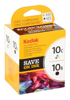 Combo Cartucho Kodak 10 Negro Y Color Esp 3 5 7 6150 Orig