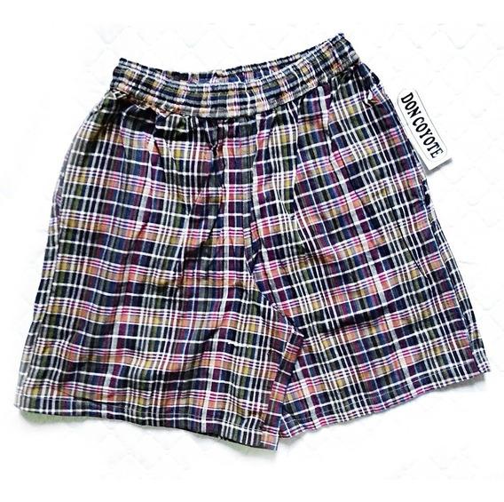 Boxers Unisex Shorts A Cuadros Y Blancos / 9-vrds