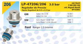 Regulador Pressão Gol Mi Parati Mi 1.0 1.6 Astra 1.8 2.0 16v