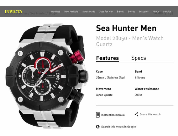 Invicta Sea Hunter Modelo 28050 (100% Original)