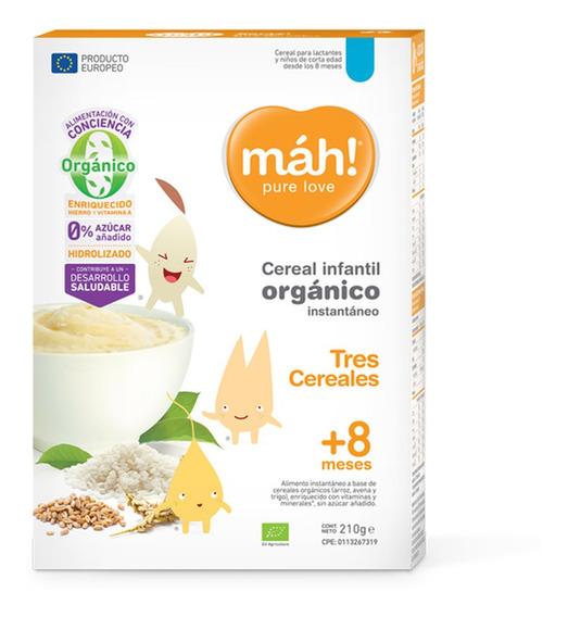 Cereal Mah! Sin Azucar Tres Cereales X 210 Gramos