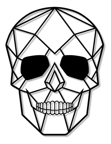 Cuadro Cráneo Calavera 3d Geométrico Decoración Hogar