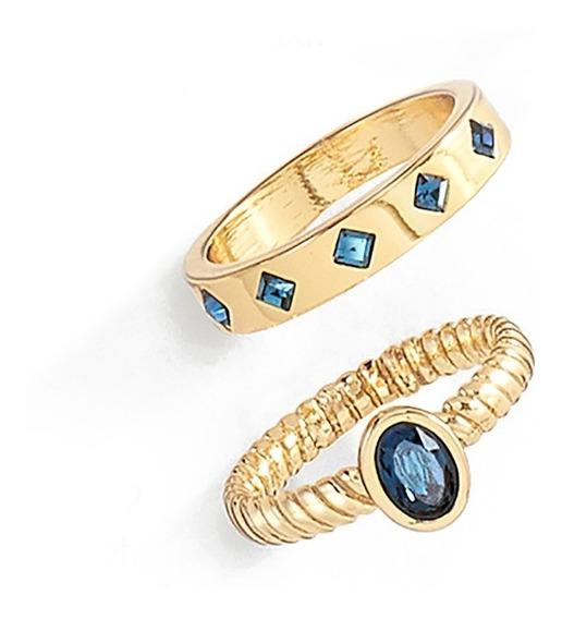 Anillo Royal Dorado Y Azul