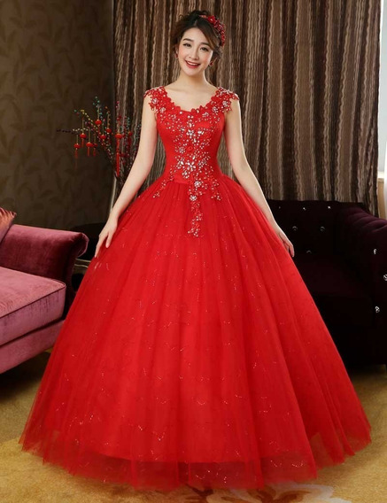 Vestido Quinceañera Xv Años Económico Princesa Pedrería
