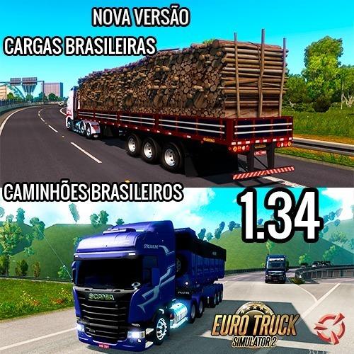 Euro Truck Simulator 2 -jogo Pc - Mod Brasileiro