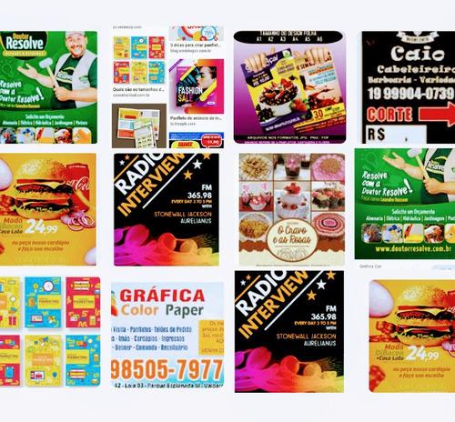 Imagem 1 de 5 de 1000panfletos+1000 Cartões De Visita Frente E Verso Colorido