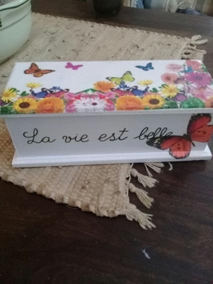 Caja De Te. Artesanal. Vs Diseños. Decoupage