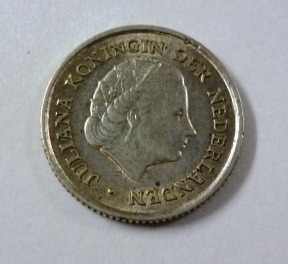 Antillas Holandesas Moneda 1/10 Gulden 1963 Plata Km 3 Xf