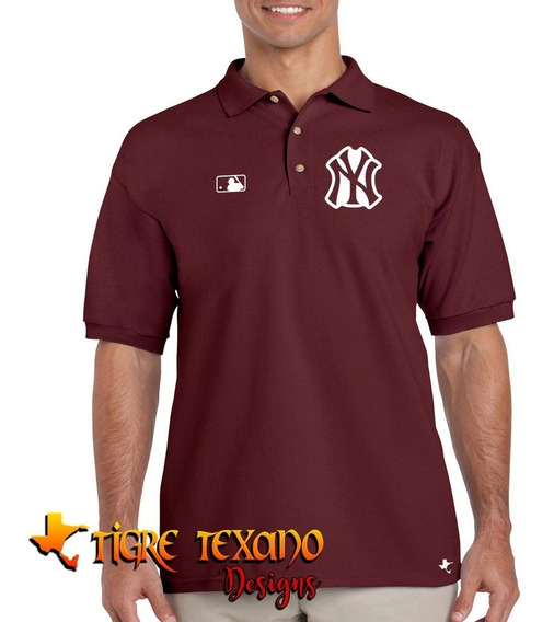 Playera Polo Yankees Nueva York M-02 By Tigre Texano Designs
