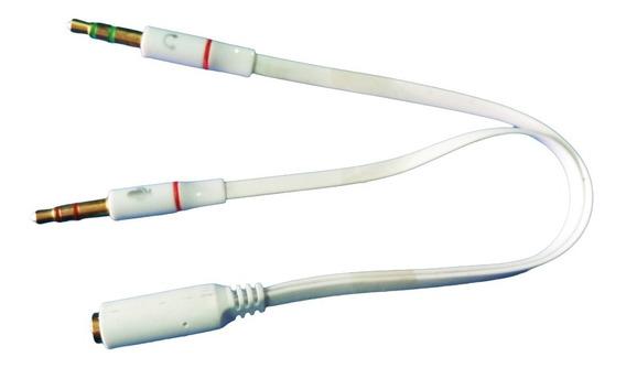 Adaptador P3 Fêmea Para 2 P2 (fone/microfone) 20cm Cor Br