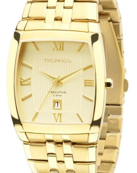 Relógio Masculino Technos Casual 1n12mp/4x Dourado + Nota