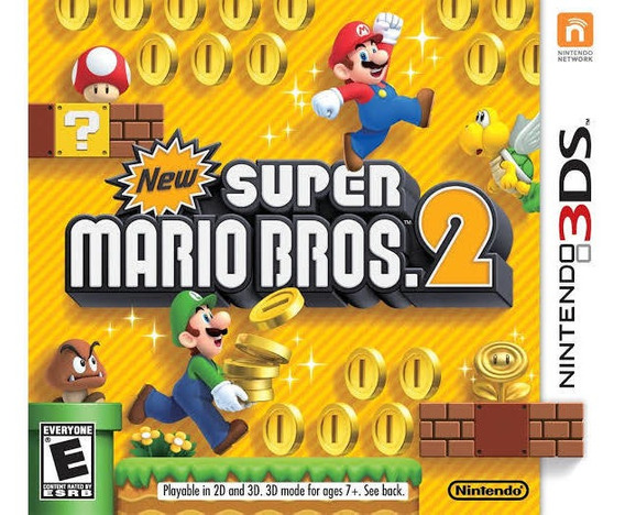New Super Mario Bros 2 Nintendo 3ds Mídia Física