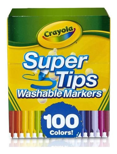 Marcadores Lavables Crayola Super Tips, 100 Colores