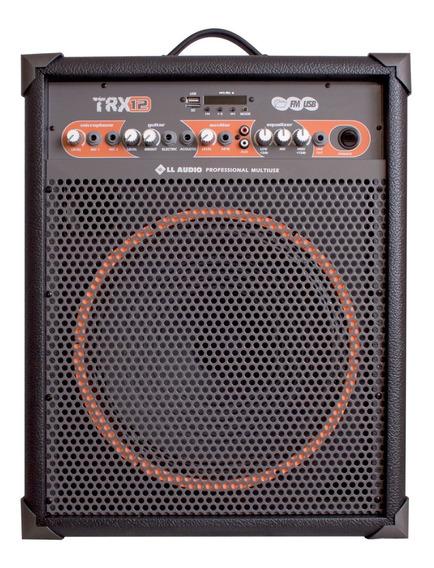 Caixa De Som Amplificada Multiuso Trx12 /80w Bluetooth + Fm
