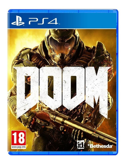Doom - 100% Em Portugues - Midia Fisica Original Lacrado Ps4