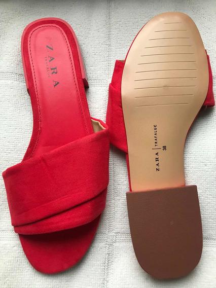 Mule Vermelho Zara