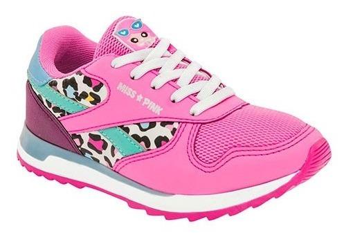 Tenis Para Niña Miss Pink 0051-45 Fsmt Fucsia Poi19
